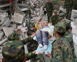 地震中最坚强的孩子们